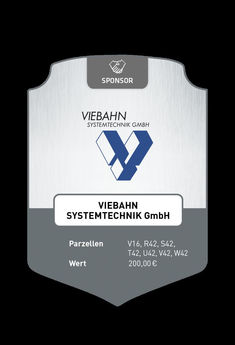Sponsoren_Plakette_Viebahn Systemtechnik